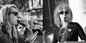 delphine au saxophone